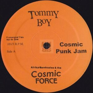 "Afrika Bambaataa & Cosmic Force - Cosmic Punk Jam Japanese bootleg 12"" side A"