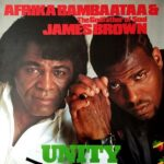 "Afrika Bambaataa & James Brown - Unity 12"" picture sleeve"