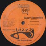 "Afrika Bambaataa & The Jazzy 5 - Jazzy Sensation 12"" side A label"