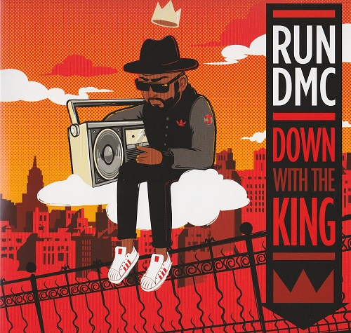 "Run DMC - Down With The King first time released on 7"" courtesy of Dinked Records with gatefold sleeve and full picture cover"