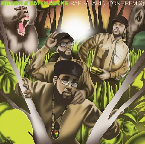 """7"""" single by Dillon & Paten Locke on AE Productions with a sleeve based on The Jungle Brothers Straight Out The Jungle album"""