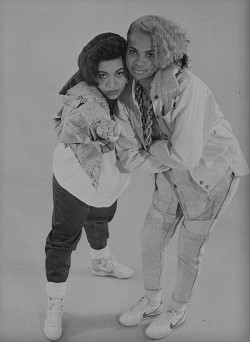 Black & white image of Super Nature aka Salt N Pepa