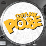 Outlaw Posse slipmats to coincide with the release of their previously unreleased 1992 UK hip hop album My afro's on fire Volume 2 on vinyl
