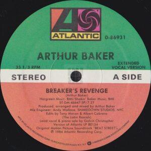 Arthur Baker - Breaker's Revenge side A label on Atlantic Records 1984