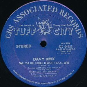 "Davy DMX - One For The Treble original 12"" side A label, vocal track"