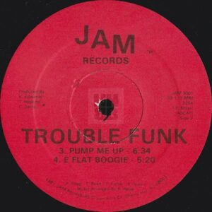 Trouble Funk - Holly Rock EP one of two label variations on Jam Records side A