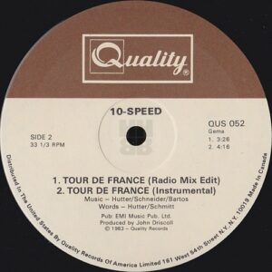 """To show the B side label of the 12"""" single"""