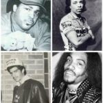 A collage to show the Zulu Kings aka Afrika Islam, Ice T, Bronx Style Bob & Melle Mel
