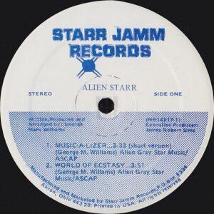 """Alien Starr 12"""" side A label"""