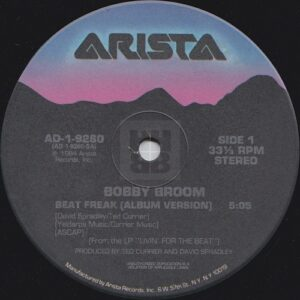 "Bobby Broom - Beat Freak US 12"" side A label"