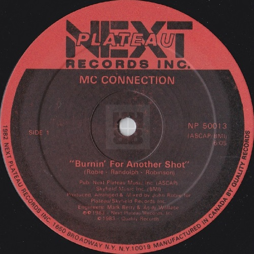 "MC Connection - Burnin' For Another Shot 12"" side A"