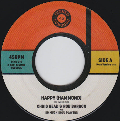 """So Much Soul Players - Happy (Hammond) (7"""") [Dinked 2021]"""
