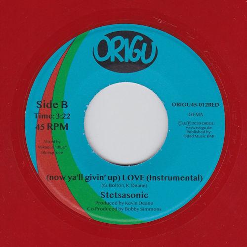 "Stetsasonic - (Now Ya'll Givin' Up) Love (7"") [Origu Records 2020] Red Vinyl"